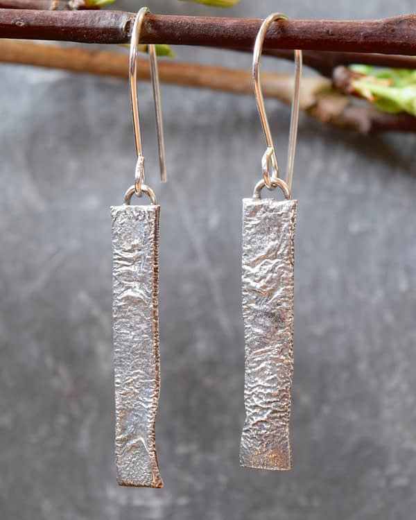 Saucy Jewelry textured silver earrings
