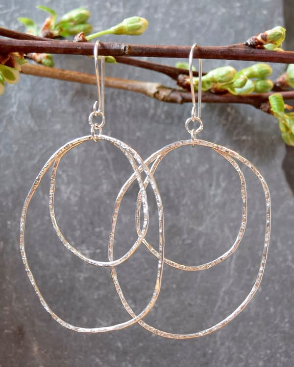 organic double hoop earrings