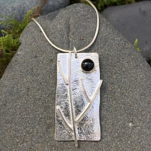 branching out pendant with reticulated finish