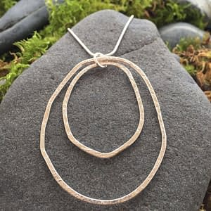 double organic hoop earrings