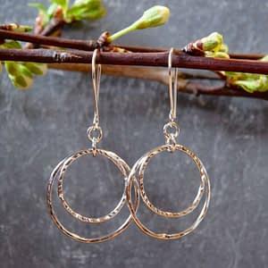 Saucy Jewelry - Connection: dangling textured silver earrings