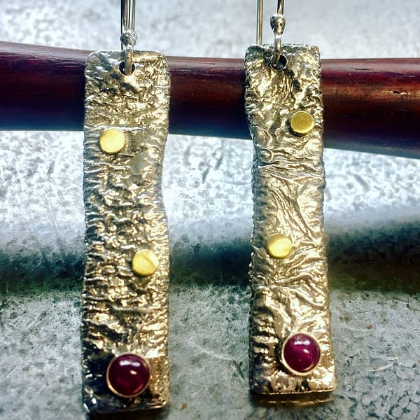 ruby candy earrings by Saucy Jewelry