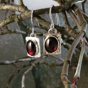 Saucy Jewelry - earrings with large red gemstones