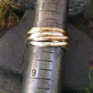 6-piece rolling ring with mixed metals