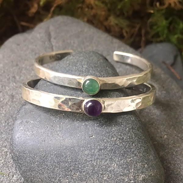 baby blessing bracelet with gemstones