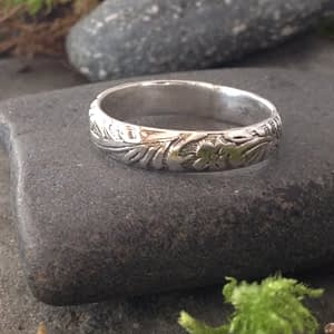 Saucy Jewelry narrow band floral ring