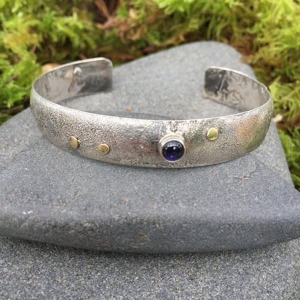 future vision low dome cuff by Saucy Jewelry