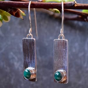 longer simplicity earrings with gemstone
