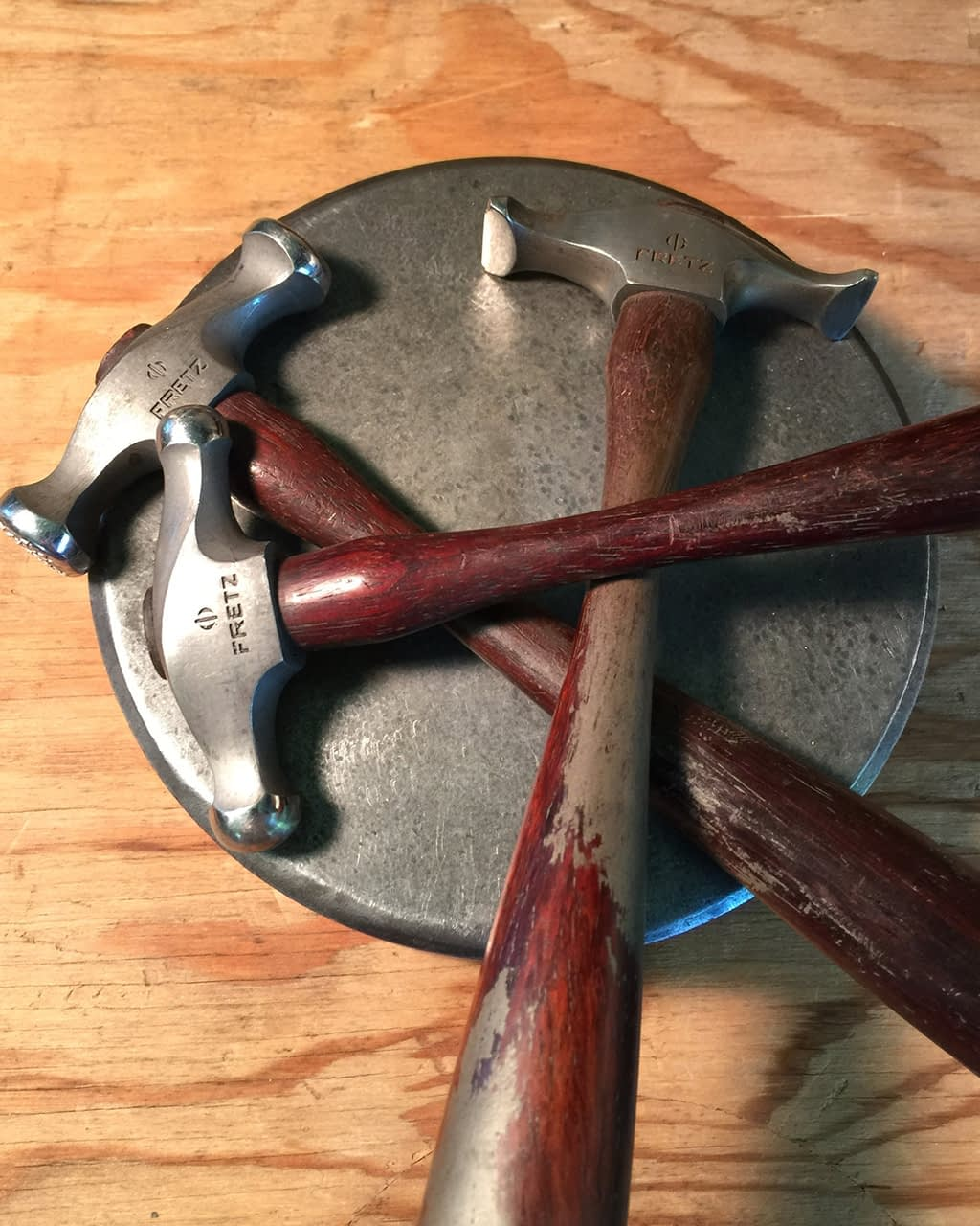 Elisa Saucy's jewelry tools more hammers