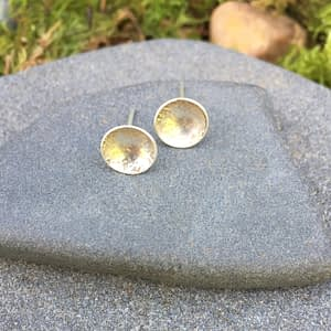 silver stud earrings
