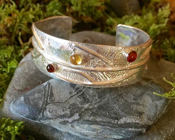 Saucy Jewelry Branching Out multi-gemstone silver bracelet | ambers