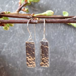 Simplicity textured silver earrings