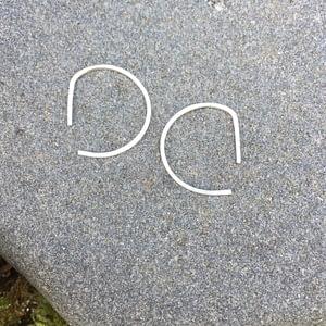 half circle slip-in earrings