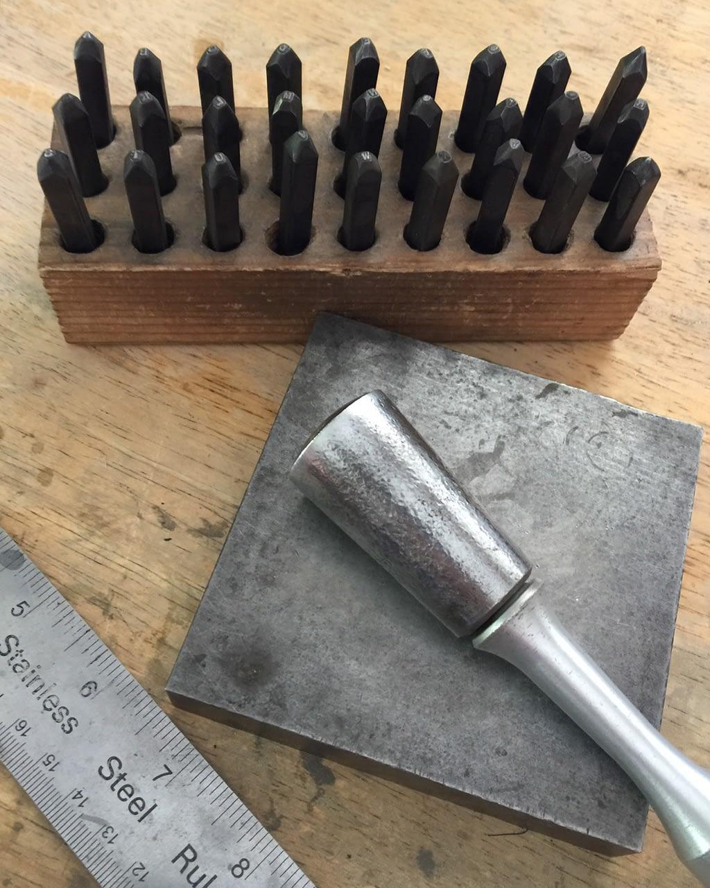 Elisa Saucy's jewelry tools gemstone setters